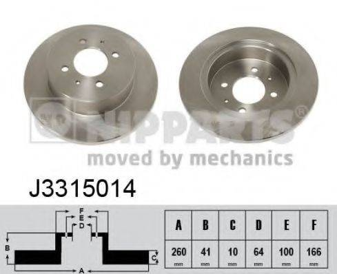 Тормозной диск NIPPARTS J3315014