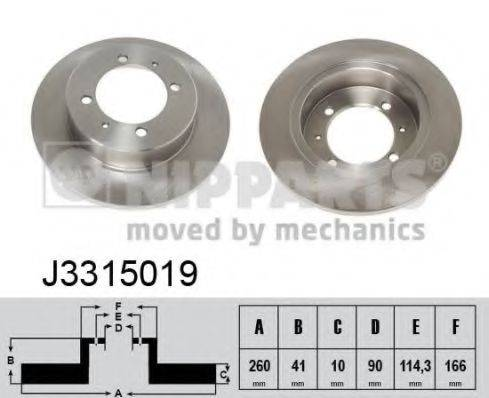 Тормозной диск NIPPARTS J3315019