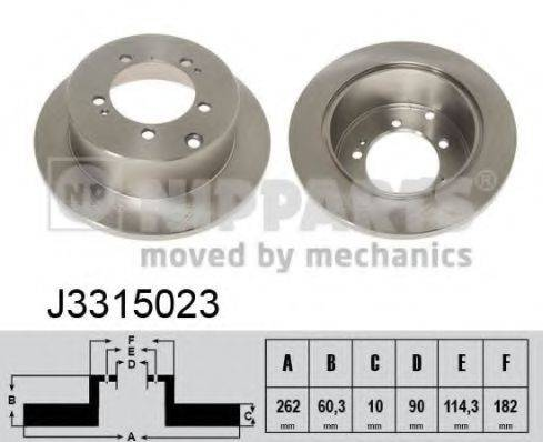 Тормозной диск NIPPARTS J3315023