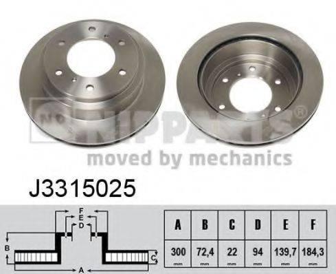 Тормозной диск NIPPARTS J3315025