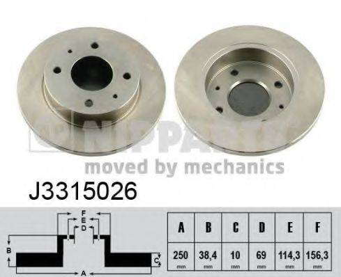 Тормозной диск NIPPARTS J3315026