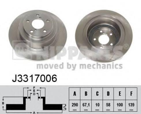Тормозной диск NIPPARTS J3317006