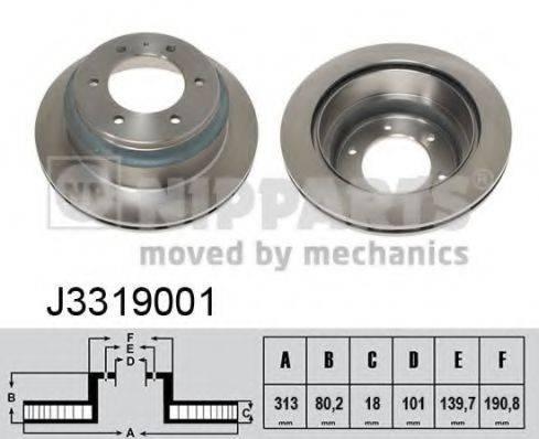 Тормозной диск NIPPARTS J3319001