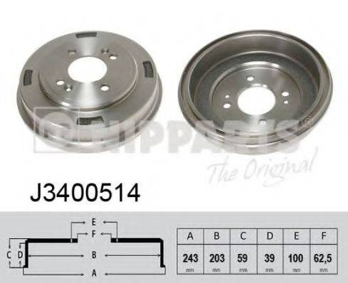 Тормозной барабан NIPPARTS J3400514
