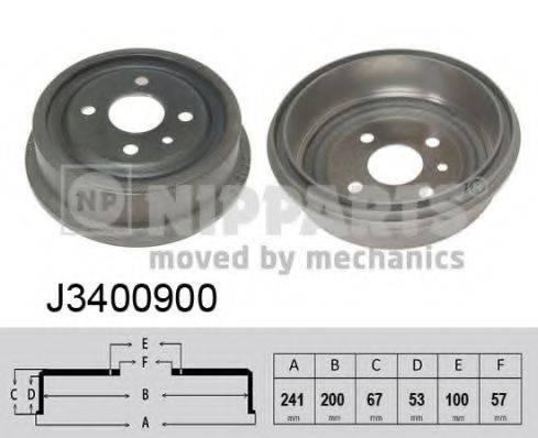 Тормозной барабан NIPPARTS J3400900