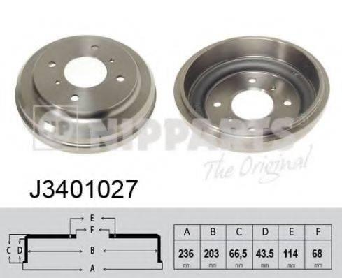 Тормозной барабан NIPPARTS J3401027