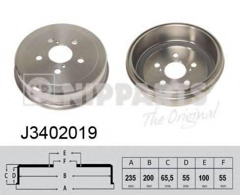 Тормозной барабан NIPPARTS J3402019