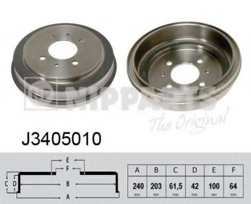 Тормозной барабан NIPPARTS J3405010