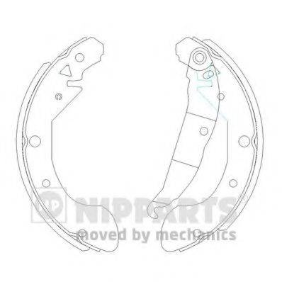 Комплект тормозных колодок NIPPARTS J3500908