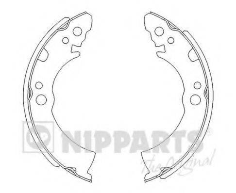 Комплект тормозных колодок NIPPARTS J3501001