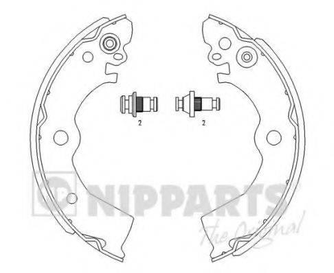 Комплект тормозных колодок NIPPARTS J3501042