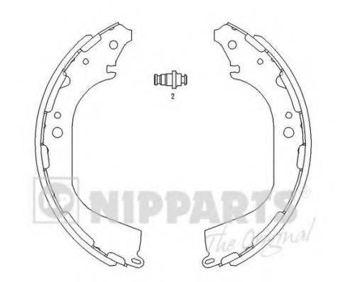 Комплект тормозных колодок NIPPARTS J3501045