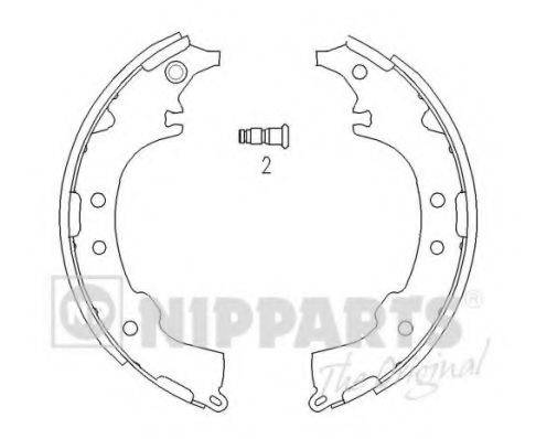 Комплект тормозных колодок NIPPARTS J3502068