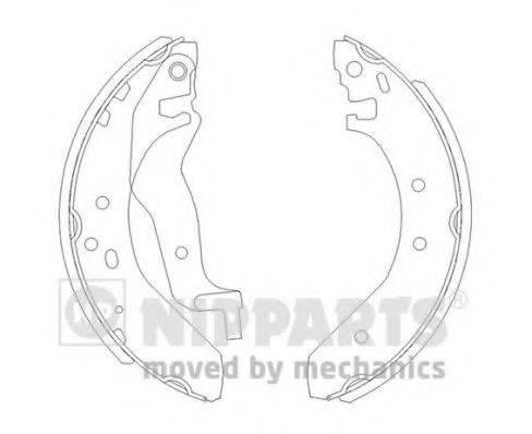 Комплект тормозных колодок NIPPARTS J3504015