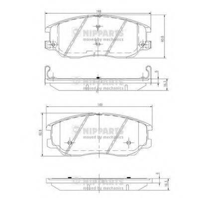 Комплект тормозных колодок, дисковый тормоз NIPPARTS J3600327