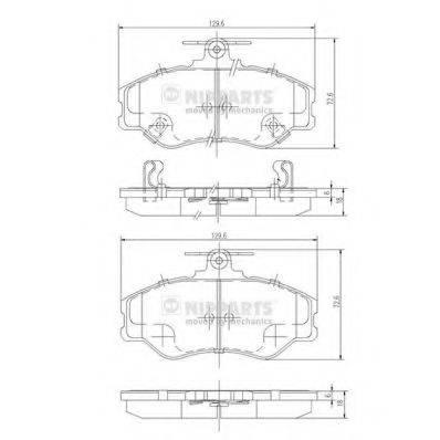 Комплект тормозных колодок, дисковый тормоз NIPPARTS J3600513