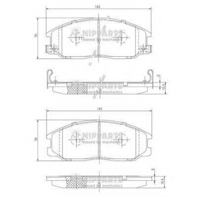 Комплект тормозных колодок, дисковый тормоз NIPPARTS J3600526