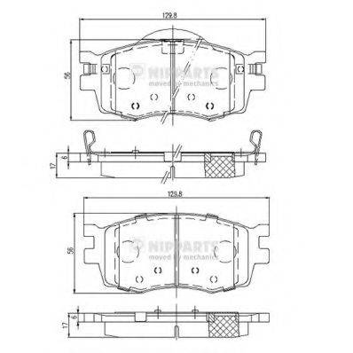 Комплект тормозных колодок, дисковый тормоз NIPPARTS J3600542
