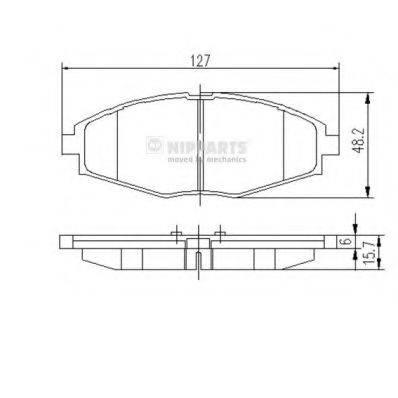 Комплект тормозных колодок, дисковый тормоз NIPPARTS J3600909