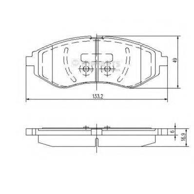 Комплект тормозных колодок, дисковый тормоз NIPPARTS J3600911