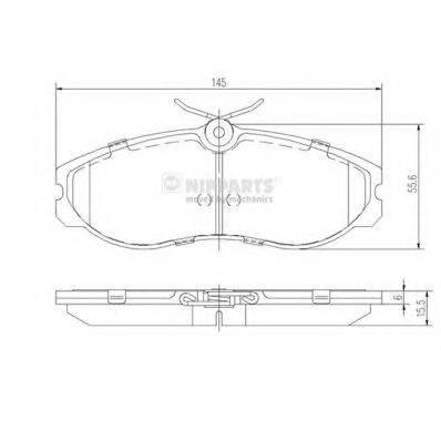 Комплект тормозных колодок, дисковый тормоз NIPPARTS J3601056