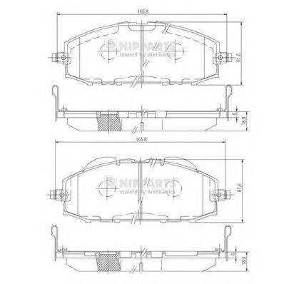 Комплект тормозных колодок, дисковый тормоз NIPPARTS J3601070