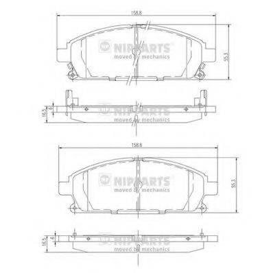 Комплект тормозных колодок, дисковый тормоз NIPPARTS J3601071