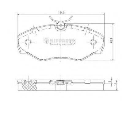 Комплект тормозных колодок, дисковый тормоз NIPPARTS J3601080