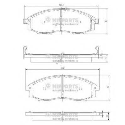 Комплект тормозных колодок, дисковый тормоз NIPPARTS J3601088