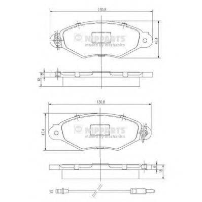 Комплект тормозных колодок, дисковый тормоз NIPPARTS J3601093