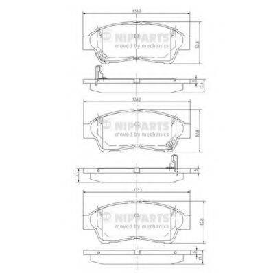 Комплект тормозных колодок, дисковый тормоз NIPPARTS J3602064