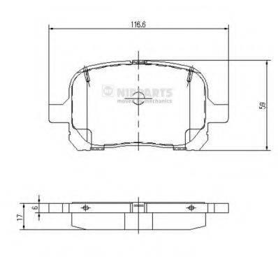 Комплект тормозных колодок, дисковый тормоз NIPPARTS J3602081