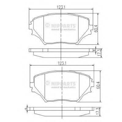 Комплект тормозных колодок, дисковый тормоз NIPPARTS J3602095