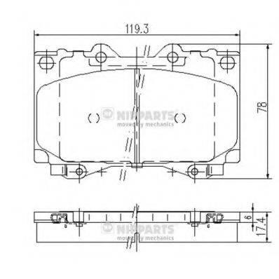 Комплект тормозных колодок, дисковый тормоз NIPPARTS J3602097