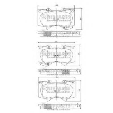 Комплект тормозных колодок, дисковый тормоз NIPPARTS J3602109