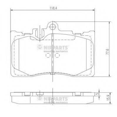 Комплект тормозных колодок, дисковый тормоз NIPPARTS J3602111