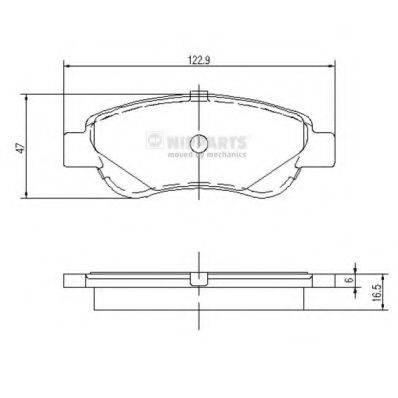 Комплект тормозных колодок, дисковый тормоз NIPPARTS J3602122