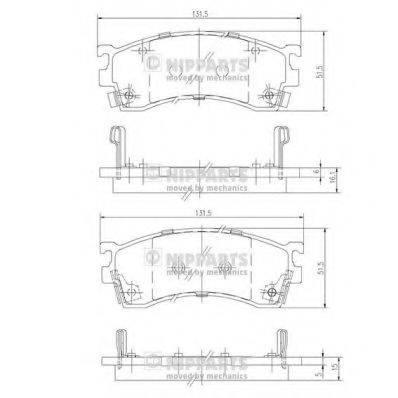 Комплект тормозных колодок, дисковый тормоз NIPPARTS J3603038