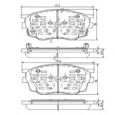 Комплект тормозных колодок, дисковый тормоз NIPPARTS J3603055