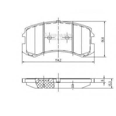 Комплект тормозных колодок, дисковый тормоз NIPPARTS J3605048