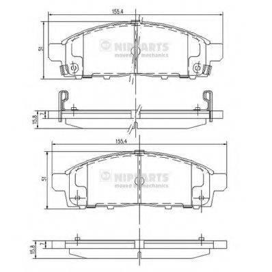 Комплект тормозных колодок, дисковый тормоз NIPPARTS J3605050