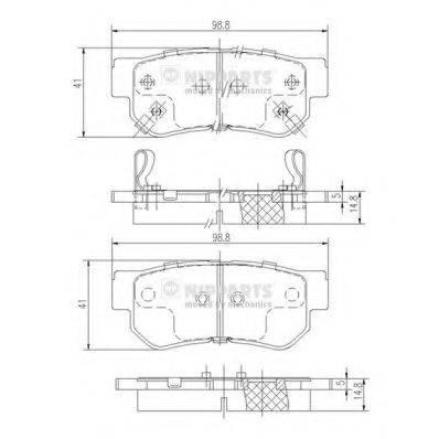 Комплект тормозных колодок, дисковый тормоз NIPPARTS J3610509