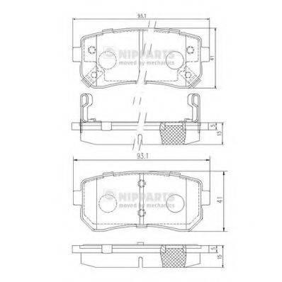Комплект тормозных колодок, дисковый тормоз NIPPARTS J3610512