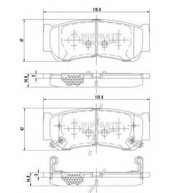 Комплект тормозных колодок, дисковый тормоз NIPPARTS J3610517