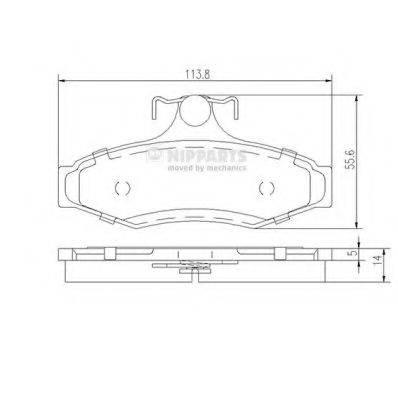 Комплект тормозных колодок, дисковый тормоз NIPPARTS J3610901