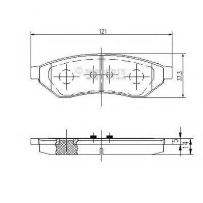 Комплект тормозных колодок, дисковый тормоз NIPPARTS J3610902