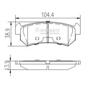 Комплект тормозных колодок, дисковый тормоз NIPPARTS J3610903