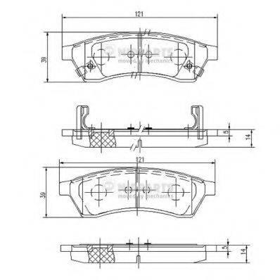 Комплект тормозных колодок, дисковый тормоз NIPPARTS J3610904