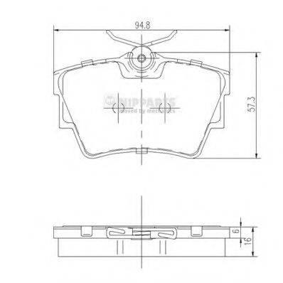 Комплект тормозных колодок, дисковый тормоз NIPPARTS J3611047