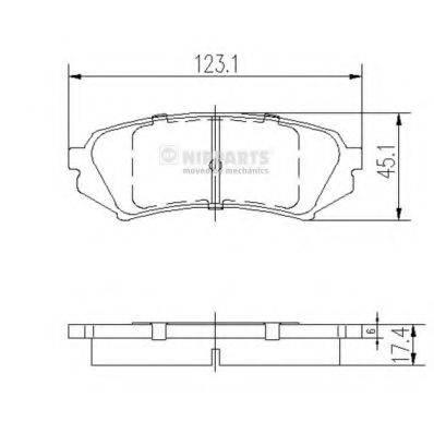 Комплект тормозных колодок, дисковый тормоз NIPPARTS J3612022
